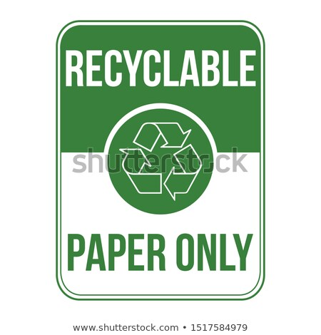 Recyclable papier signe bureau affaires stock Photo stock © kyryloff