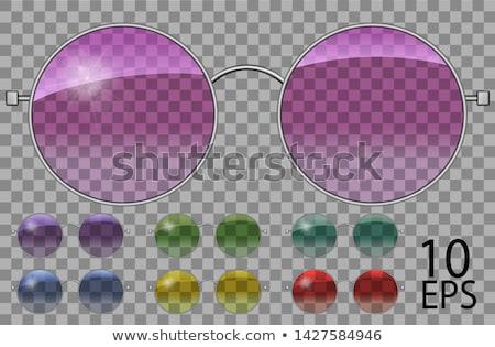 очки форма объектив цвета вектора защиту Сток-фото © pikepicture