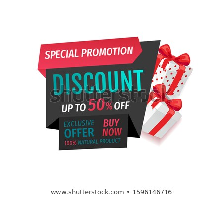 offer now 50 percent off lowering of price banner stock photo © robuart