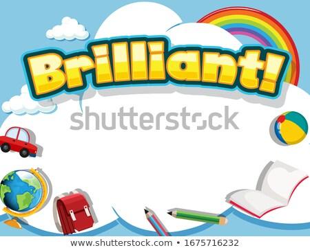 шрифт дизайна слово блестящий радуга иллюстрация Сток-фото © bluering