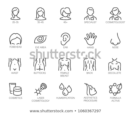 Vrouwelijke borst icon vector schets illustratie Stockfoto © pikepicture