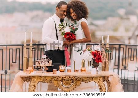 Fiatal pér menyasszony vőlegény férj feleség fiúbarát Stock fotó © galitskaya
