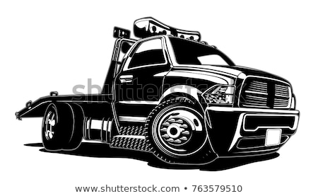 Cartoon tow truck Stock photo © mechanik