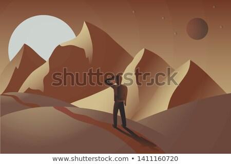 Vale paisagens montanhas queixo sibéria Foto stock © olira