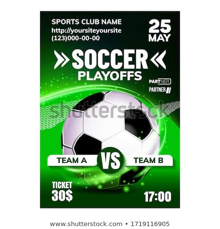 Voetbal team spel flyer poster vector Stockfoto © pikepicture