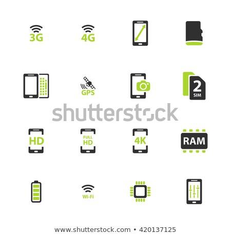 Smarthone specs simply icons Stock photo © ayaxmr