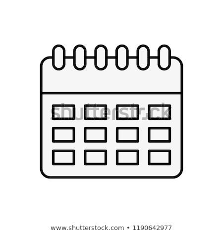 Calendrier plan rappel date ordinateur bureau Photo stock © yupiramos