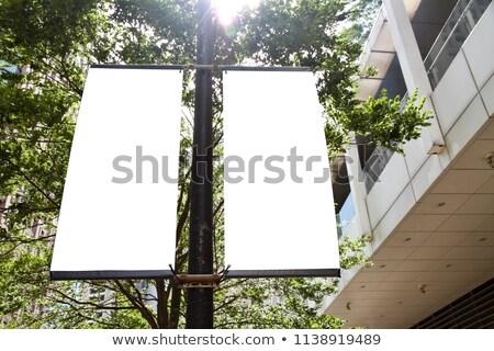 Blank pole banner mockup Stock photo © montego