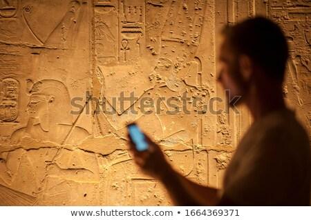 hieroglyphic panel Stock photo © pancaketom