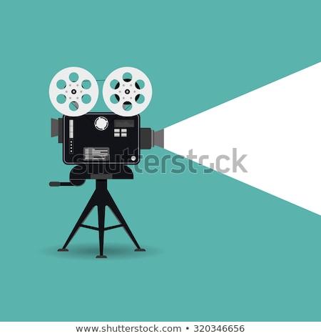 vieux · antique · caméra · vidéo · blanche · technologie · fond - photo stock © carenas1