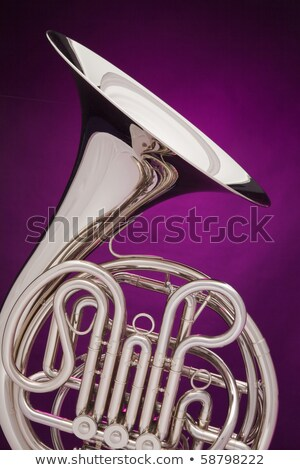 French Horn Isolated On Purple Stock fotó © mkm3