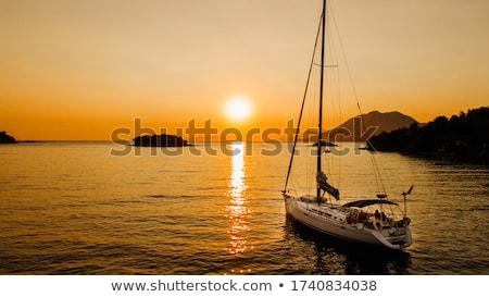 Sunset on Mediterranean Sea. Stock photo © rglinsky77