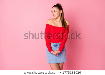portrait of woman with shy smile stock photo © photography33