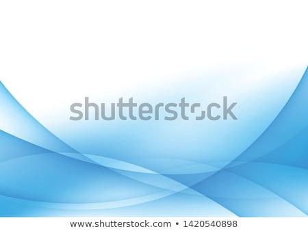 Dinâmico azul ondulado movimento abstrato ilustração Foto stock © Artida