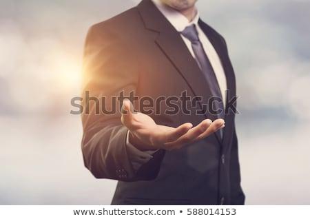 Işadamı yüz adam takım elbise beyaz oynamak Stok fotoğraf © photography33
