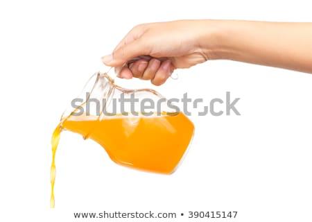 手 · オレンジジュース · オレンジ · 食品 · 自然 - ストックフォト © ozaiachin