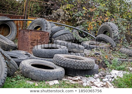 Used tires thrown in nature. Stock photo © justinb
