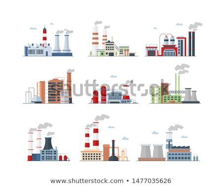 pipe · usine · nuit · lumière · lumières · affaires - photo stock © witthaya