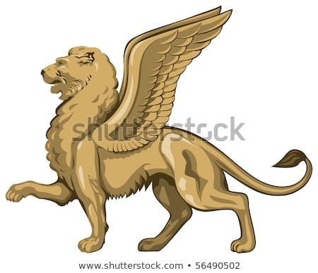 ライオン · マーク · ヴェローナ · イタリア · アーキテクチャ · 電源 - ストックフォト © magann
