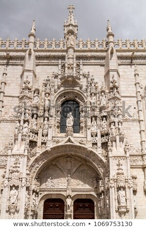 mosteiro dos jeronimos old monastery in belem lisbon portugal stock photo © serpla