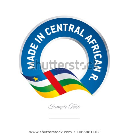 vector label Made in Central African Republic Stock photo © perysty
