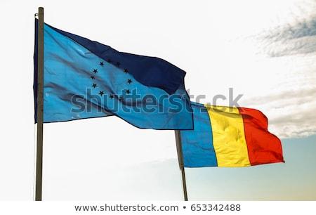 Político bandera Rumania mundo país Foto stock © perysty