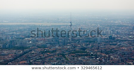 aerial view of berlin at summer time stock photo © prill