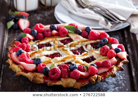 pie with fresh berries stock photo © masha