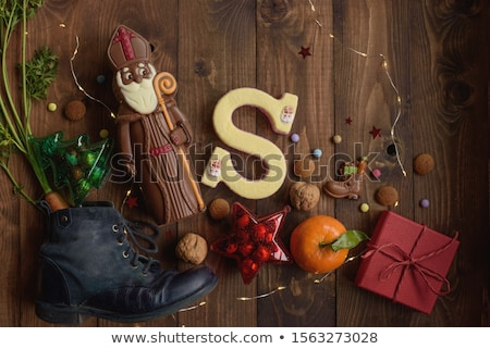 Shoe with sweets from Sinterklaas Stock photo © compuinfoto