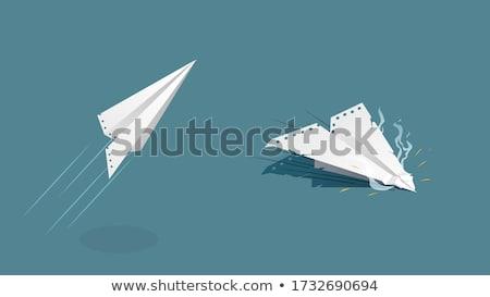 crashed paper plane Stock photo © prill