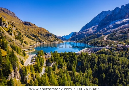 Dolomiti - Fedaia pass with lake Stock photo © Antonio-S