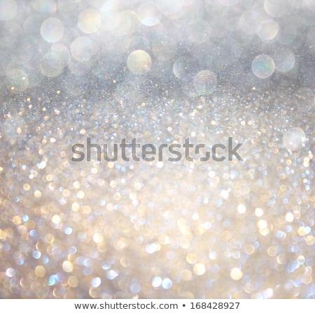 Silver and white holiday bokeh Stock photo © dashapetrenko