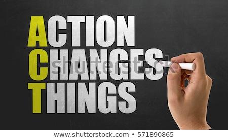 klímaváltozás · tevékenység · globális · terv · segítség · föld · napja - stock fotó © ansonstock