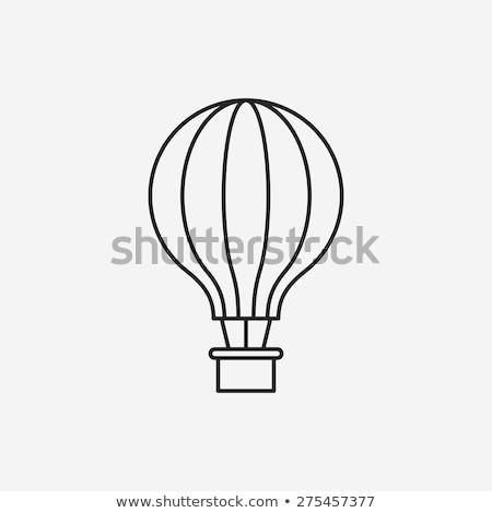 uçan · balon · ikon · örnek · imzalamak · iletişim - stok fotoğraf © prill