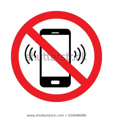 Vector icono móviles prohibir Foto stock © zzve