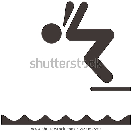 Icon diving board Stock photo © zzve