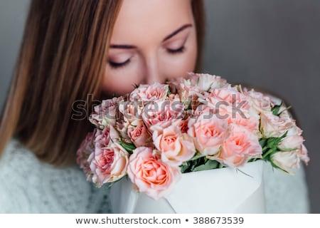 розовый · цветы · весны · счастливым · глазах - Сток-фото © dash