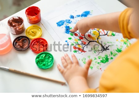Pintar dedo mãos mão crianças arte Foto stock © Dar1930