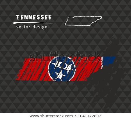 地図 テネシー州 黒板 図面 黒板 ストックフォト © vepar5