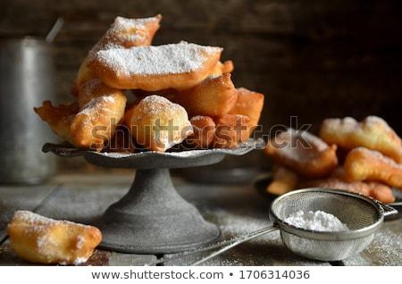 сахарная пудра белый продовольствие десерта свежие Сток-фото © saddako2