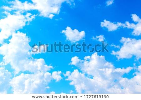 Large cumulus clouds in a blue sky Stock photo © pzaxe