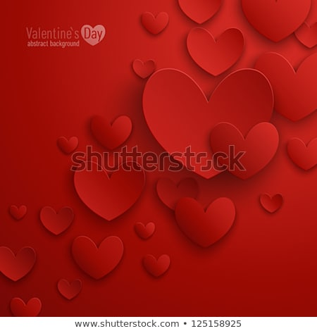 Piękna serca walentynki karty elegancki tekst Zdjęcia stock © bharat