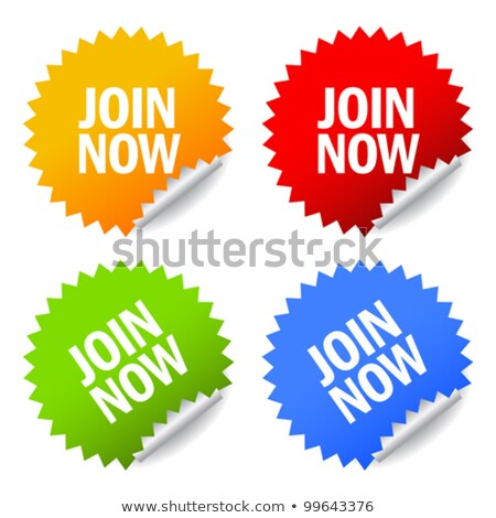 Join today stamp set Stock photo © burakowski