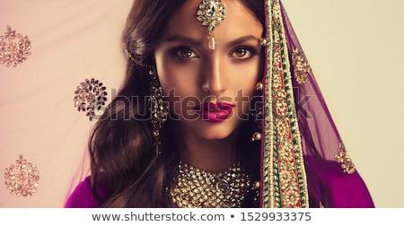 Woman in sari Stock photo © Novic