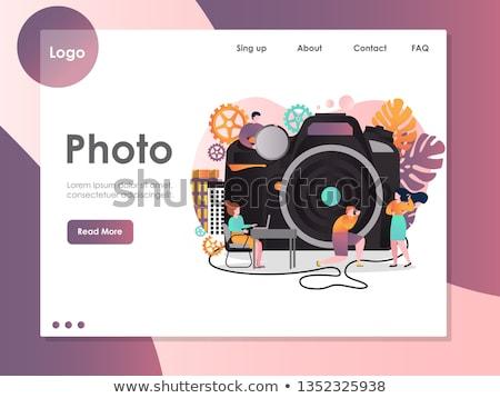 Modelo fotografía logo moda negocios flor Foto stock © shawlinmohd