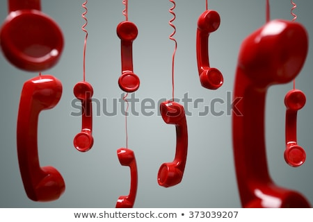 Kırmızı telefon kordon telefon el Stok fotoğraf © kitch