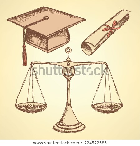 sketch jurisdiction education set stock photo © kali