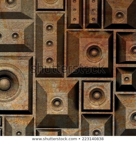 3D Гранж старые оратора звук вечеринка Сток-фото © Melvin07
