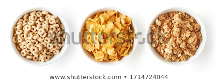 Breakfast cereal in a white bowl Stock photo © raphotos