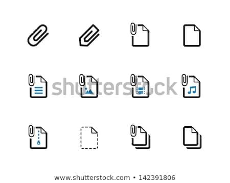 Spinacz ikona biały tle stali narzędzie Zdjęcia stock © Anna_leni